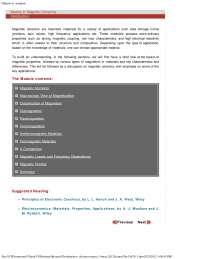 Magnetic Ceramics - Electroceramics - Lecture Notes