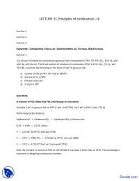 Principles of Combustion - Fuel, Furnace and Refractory - Solved Assignment