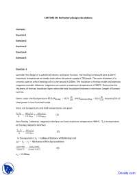 Refractory Design Calculations - Fuel, Furnace and Refractory - Solved Assignment