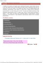 High Temperature Superconductors - Electroceramics - Lecture Notes