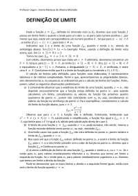 Definição de Limite - Apostilas - Matemática Aplicada