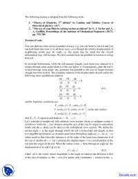 Torsion of Rods - Mechanics of Soft Materials - Lecture Notes