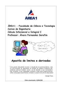 Limites e derivadas 2006_Parte1
