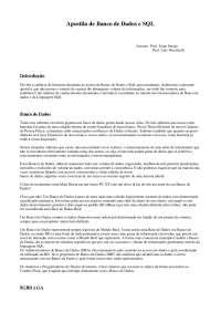 Banco de Dados e SQL - Parte1
