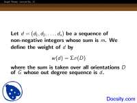 Non Negative Integers - Graph Theory - Lecture Slides
