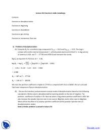 Exercise in Ladle Metallurgy - Steel Making - Lecture Notes
