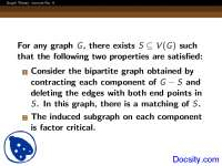 Two Properties - Graph Theory - Lecture Slides