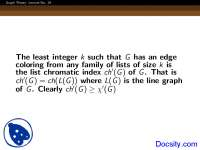 Least Integer - Graph Theory - Lecture Slides