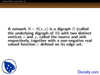 Underlying Digraph - Graph Theory - Lecture Slides