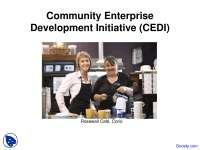 Community Enterprise - Community Development - Lecture Slides