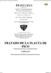 Tratado de Hotteterre - Apostilas - Música
