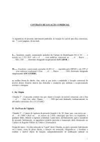 Contrato de Locação Comercial - MODELO - Apostilas - Linguagem