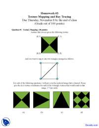 Texture Mapping - Introduction to Computer Graphics - Assignment