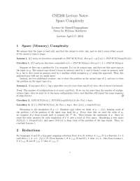 Space Complexity - Computability and Complexity - Lecture Notes