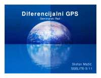 Diferencijalni GPS-Seminarski rad-Satelitski komunikacioni sistemi-Elektrotehnika i racunarstvo