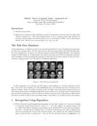 Yale Face Database - Introduction to Computer Vision - Assignment