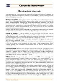 Manutenção Em Placas-Mãe - Curso Hardware - SENAC - Apostilas - Informática Biomédica