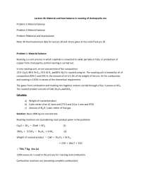 Chalcopyrite Ore - Materials and Heat Balance in Metallurgical Processes - Lecture Notes