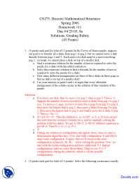 Recurrence Relation - Discrete Mathematics - Solved Homework