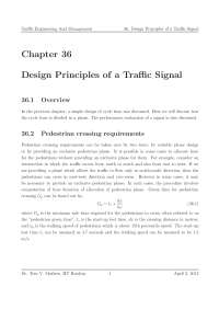 Pedestrian crossing - Traffic Engineering and Management - Lecture Notes