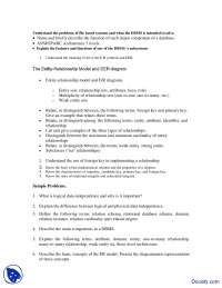 Entity-Relationship Model - Database Design - Quiz