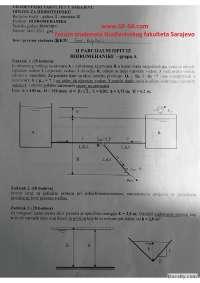 Hidromehanika - zadaci II parcijalni - 14.01.2011