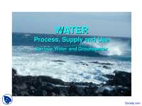 Water - Engineering Geology - Lecture Slides