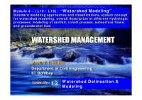 Topographic Survey - Watershed Management - Lecture Notes