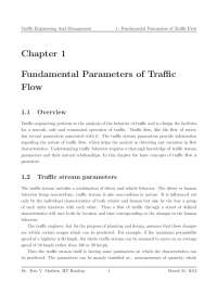 Traffic - Traffic Engineering and Management - Lecture Notes