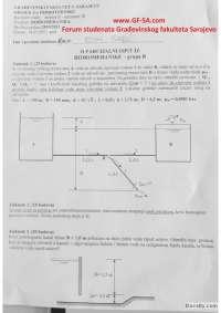 Hidromehanika - zadaci II parcijalni - 14.01.2011 - grupa B