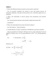 Asymmetric Membrane - Novel Separation Processes - Lecture Notes