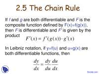 Chain Rule - Calculus I - Lecture Slides