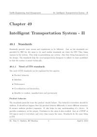 Non-Transportation Designers - Traffic Engineering and Management - Lecture Notes