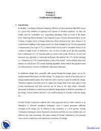 Verification Techniques - Design Verification and Test - Lecture Notes