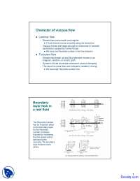 Character of Voiscous Flow - Aircraft Performance and Flight Mechanics - Lecture Slides