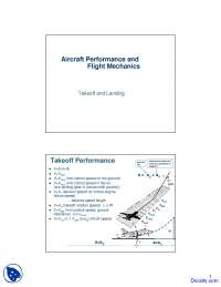 Takeoff and Landing - Aircraft Performance and Flight Mechanics - Lecture Slides