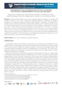 Variabilidade das chuvas e amazenamento de agua em cabaceiras - Apostilas - Meteorologia