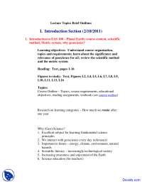 Introduction - Planet Earth - Lecture Notes
