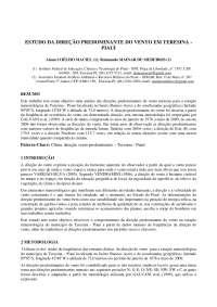 Direção predominante do vento em Teresina - Apostilas - Meteorologia