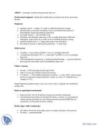 AREST-Beleska-Anesteziologija i reanimatologija-Medicina