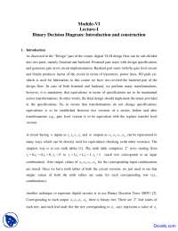Binary Decision Diagram - Design Verification and Test - Lecture Notes