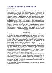 Dislexia e Aprendizagem - Apostilas - Fonoaudiologia