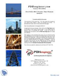 Time Domain Analysis-Skripta-Analiza kola-Elektrotehnika i racunarstvo