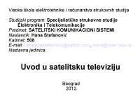 Uvod u SATV-Slajdovi-Satelitski komunikacioni sistemi-Elektrotehnika i racunarstvo