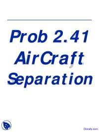 AirCraft - Computational Methods - Lecture Slides