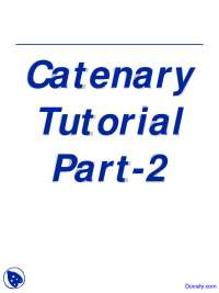 Catenary Two - Computational Methods - Lecture Slides