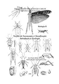 Introdução à Zoologia - Apostilas - Ciências Biomédicas
