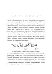 Modeliranje sistema automatskog upravljanja-Skripta-Automatsko uptavljanje 1-Elektrotehnika i racunarstvo