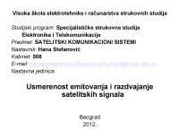 Usmerenost Emitovanja-Slajdovi-Satelitski komunikacioni sistemi-Elektrotehnika i racunarstvo