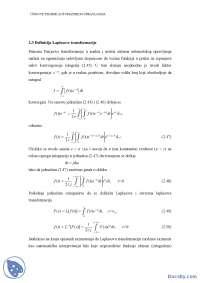 Laplasova transformacija-Skripta-Automatsko uptavljanje 1-Elektrotehnika i racunarstvo